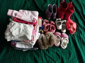 Riided ja jalatsid.