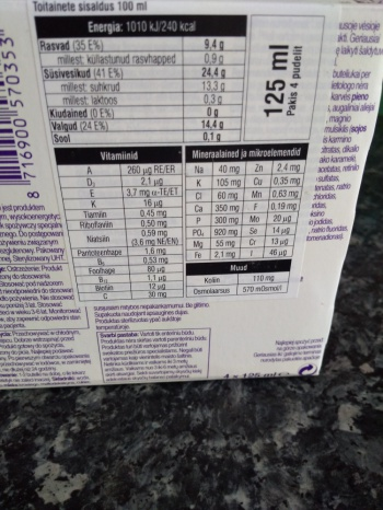 Nutridrink vitamiini ja valgujoogid