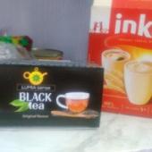 Must tee ja inka kohv