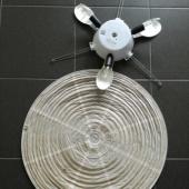 IKEA laelamp riisipaberist kattega