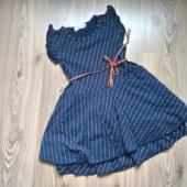 Vööga kleit, 122-128 vajab parandust.