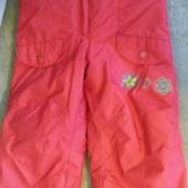 ilusad punased talvepüksid  92-104 cm