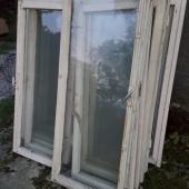 Vanad puidust aknad, klaasid terved 55x120