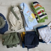 Terve hunnik riideesemeid, suurus 68-86 ja mähkmed