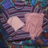 Müts, sall ja džemper 8-12a. tüdrukule