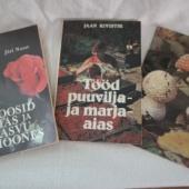 3 raamatut seentest, roosidest ja aiatöödest