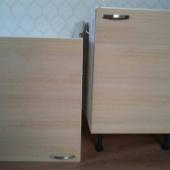 Kaks köögikappi: valamukapp ja nõudekapp