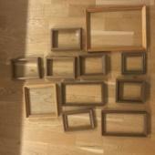 Pildiraamid, puidust, ilma klaasideta