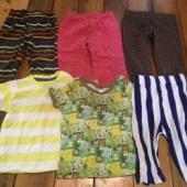 T-särgid ja püksid tüdrukule 74-80