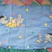Kassidega padjapüür 35*55 lapsele