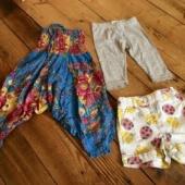92/98Pükstükk, retuusid ja lühiksed püksid