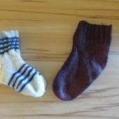 Kaks paari villaseid sokke, parajad jalanumbrile 31 - 34