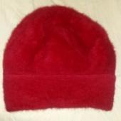 Barett/,müts 53/57  kirsipunane