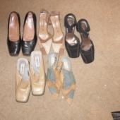 5 paari kasutatud naistekingi + 1 paar saapaid